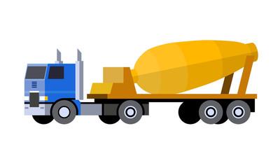 Cement mixer semi-trailer truck