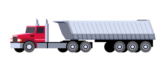 Dump truck semi trailer