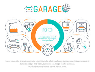 Website Banner and Landing Page of Garage.