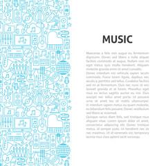 Music Line Pattern Concept