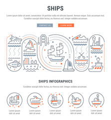 Website Banner and Landing Page of Ships.