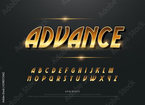 Alphabet gold metallic and effect designs  Exclusive golden