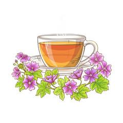 malva tea illustration