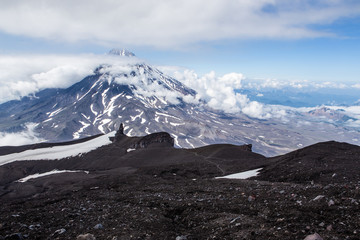 View from Avachinsky volcano to Koryaksky volcano, Kamchatka