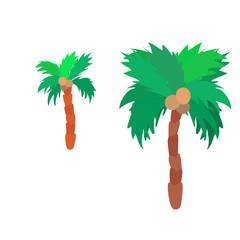 Isolated flat colorful palm tree logo set