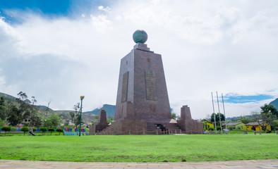 Mitad del Mundo, Middle of the world Monument in Quito, Ecuador