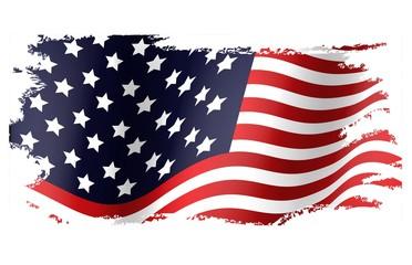 Grunge flag of American
