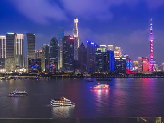 Night view of Shanghai City.