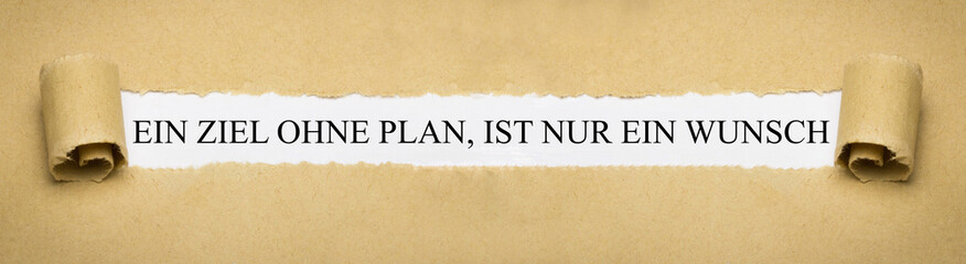 Ein Ziel ohne Plan, ist nur ein Wunsch