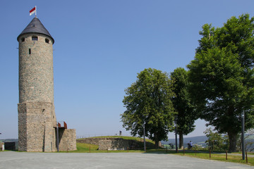 Burg Lichtenberg, Oberfranken, Rittertstadt Stadt Lichtenberg, Wanderer