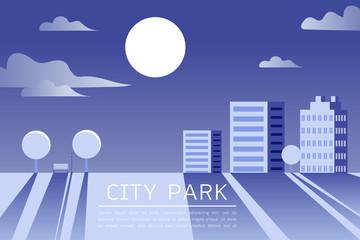 City Park Vector Flat illustration.