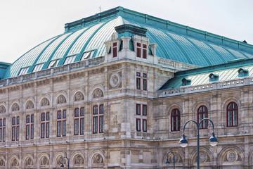 Facade of a grand buiding in Europe