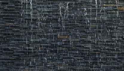 Black nature stone with waterfall texture