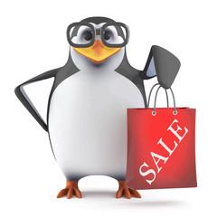 Vector 3d Academic penguin has been to the sales