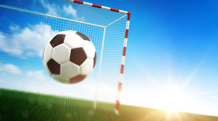 Football goal concept