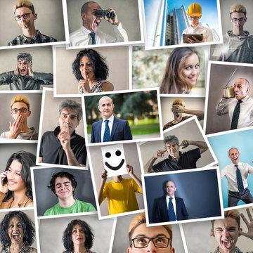 collage di persone in varie espressioni