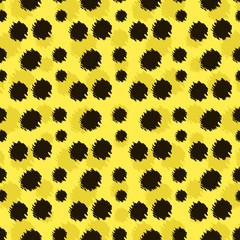 Cartoon realistic leopard vector texture.
