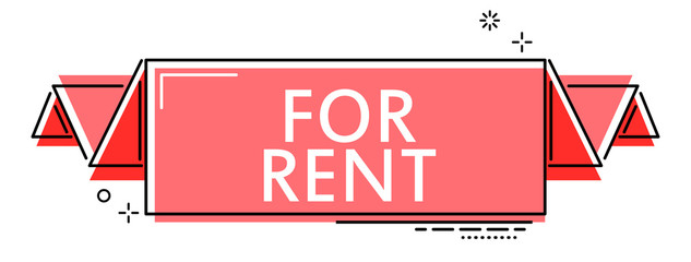 red flat line banner for rent