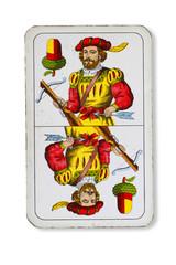 Doppeldeutsche Spielkarte _ Eichel _ Bogenschütze