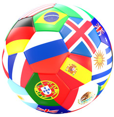 soccer ball 3d rendering isolated