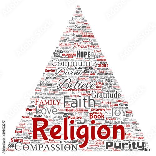 Vector conceptual religion, god, faith, spirituality