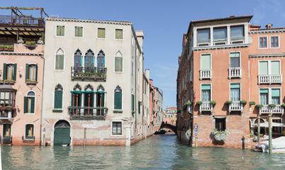 Small channel Rio di San Marcuola Grand Canal in Venice