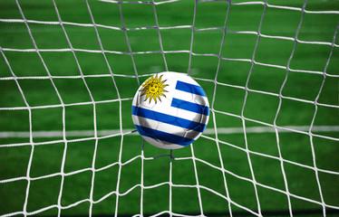 Fussball mit Uruguay Flagge
