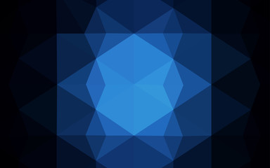 Dark BLUE vector pattern with gradient triangles.
