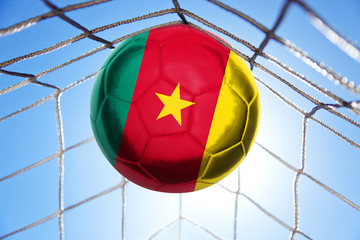 Fussball mit senegalesischer Flagge
