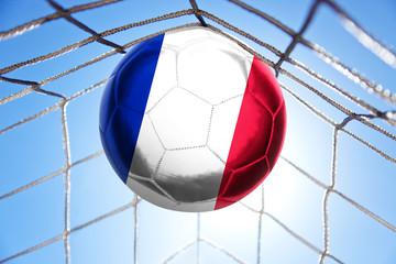 Fussball mit französischer Flagge