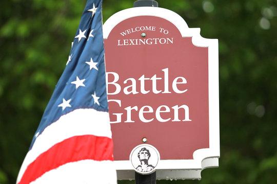 Memorial Day Ceremony in Lexington, MA, US