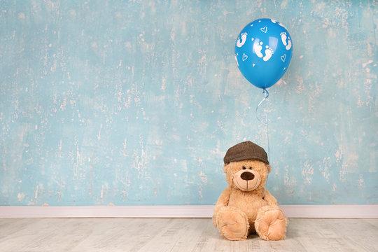 Geburt - Teddy mit Luftballon