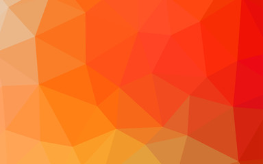 Light Red, Yellow vector polygonal pattern.