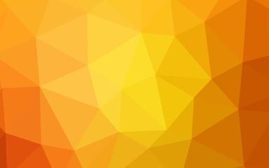 Light Orange vector shining triangular backdrop.
