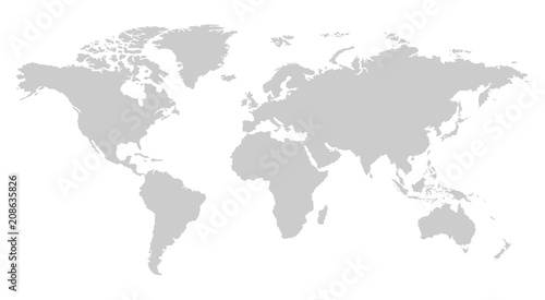 One color grey world map isolated on transparent background world one color grey world map isolated on transparent background world vector illustration gumiabroncs Images