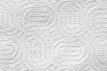 Napkin white with floral pattern. Background with paper texture.