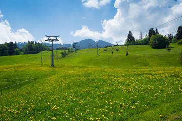 Sessellift und Seilbahn zur Alpspitz, Allgäu