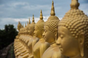 Buddha statue selected focus