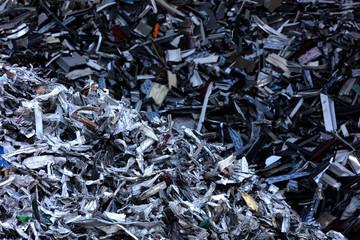 aluminum profiles scrap pile