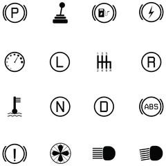 car indicator icon set