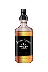 Perfect design for the design of alcohol . Elite bottle .Vector illustration