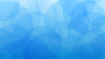 Abstract background of translucent circles in light blue colors