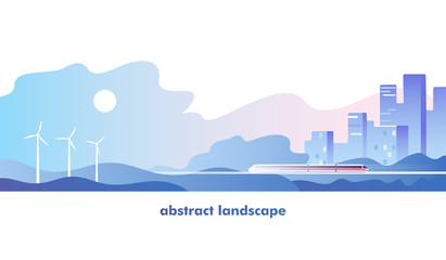 Abstract urban landscape. Vector illustration.