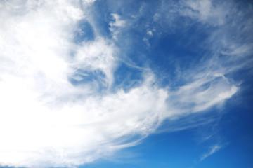white clouds in a blue sky