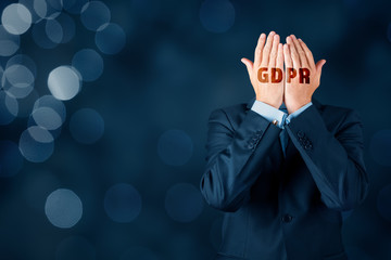 GDPR and personal information protection concept