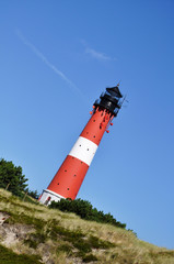 diagonal red lighthouse by jziprian
