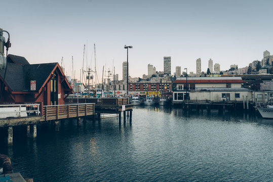 san francisco city view in the evening pier