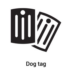 Dog tag icon vector sign and symbol isolated on white background, Dog tag logo concept