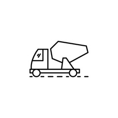 concrete mixer outline icon. Element of construction icon for mobile concept and web apps. Thin line concrete mixer outline icon can be used for web and mobile