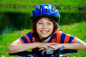 cheerful kid boy